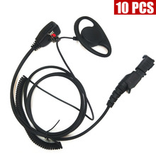 10PCS D Headset Earphone For Motorola Walkie Talkie Radio XPR3300 XPR3500 XIR P6620 E8600 XIR P8260 P6600 P8668