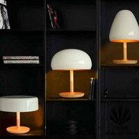 Минималистский прекрасные грибок настольные лампы для чтения Nordic дизайнеры творчески деревянный спальня ночники современный LO7186