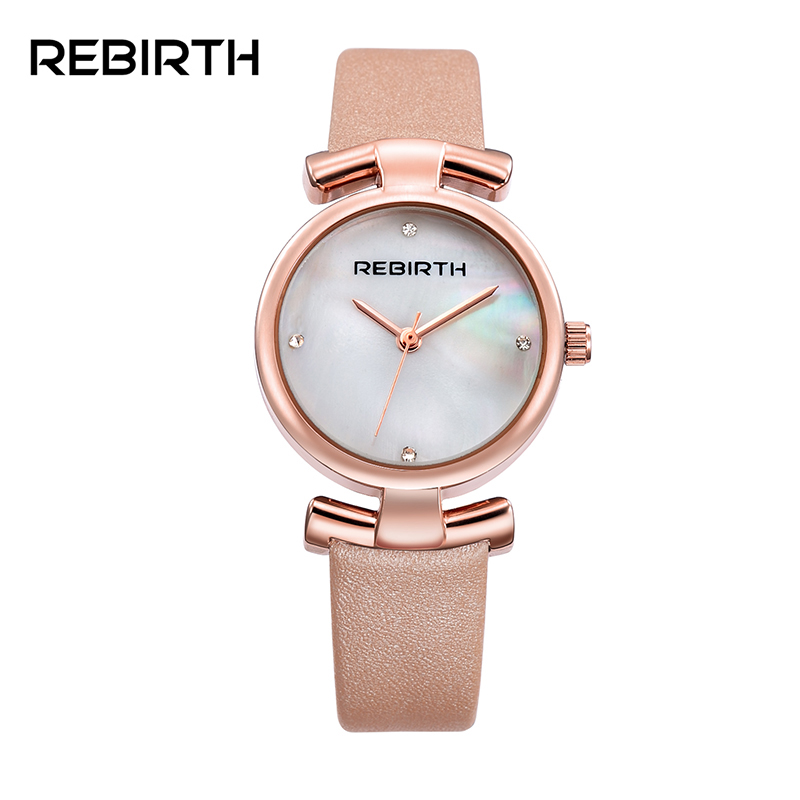 Shell Surface Ladies Fashion Watches Bow-knot Design Elegant Wristwatches 2017 REBIRTH Brand Lxuury Women Beauty Watch Gifts