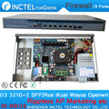Intel PCI-E 1000M 6 * 82583v 2*Intel I350 SFP Gigabit Firewall Hardware VPN with I3 3210 Processor
