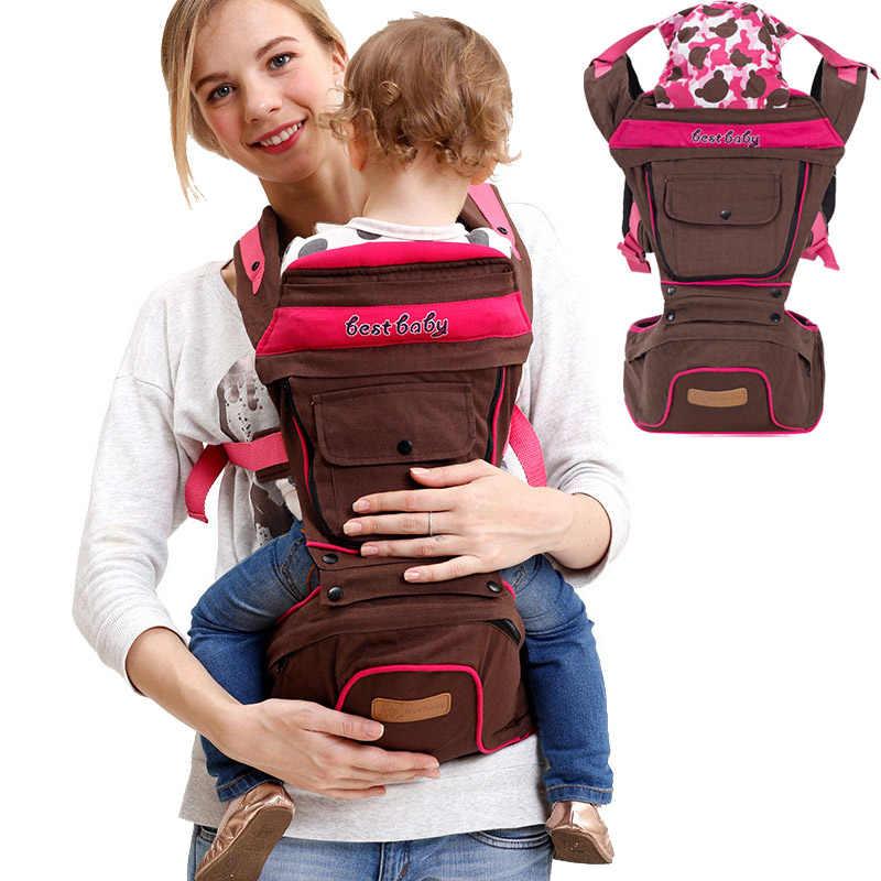 Portabebés ergonómico para bebé, mochila de algodón transpirable para niño, mochila para bebé multifuncional, 4 estaciones, eslingas, 0-36 meses