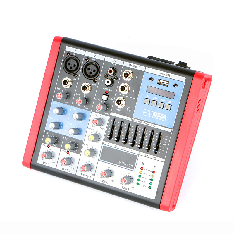 Free shipping professional mini audio mixer console 4 channel mixing small sound equipment - Professional mixing console ...