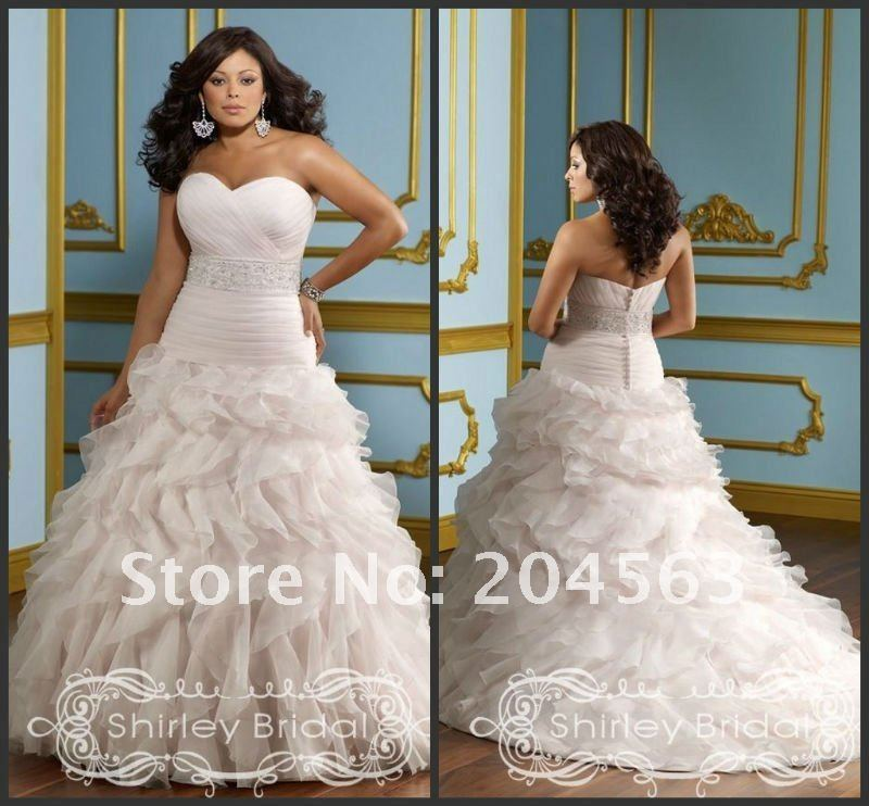 Free Shipping New Arrive hot sell Plus Size Wedding Dress any size/color wholesale/retail