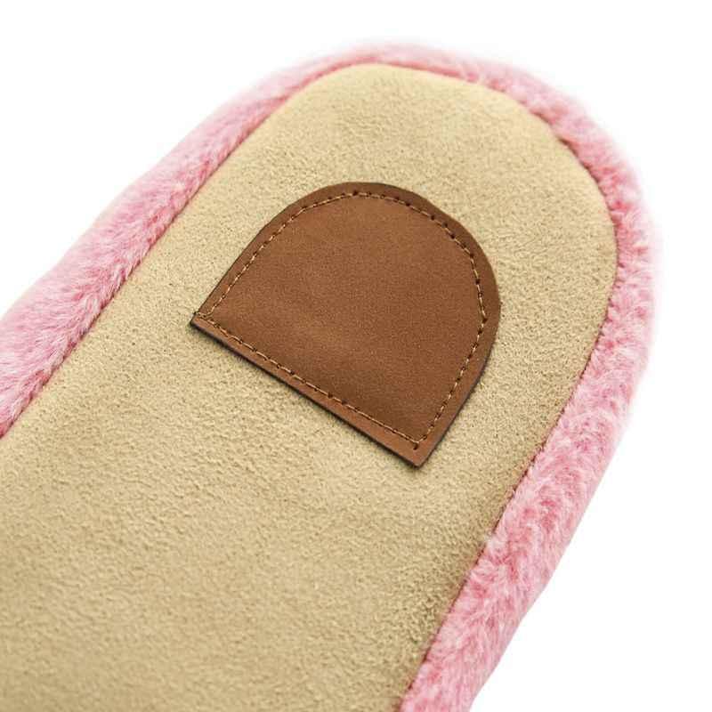 2018 Chinelos Sapatos de Interior Chinelo Casa De Pelúcia De Algodão Macio Bonito Non-Slip Piso Casa Chinelos Peludos Mulheres Sapatos Para quarto