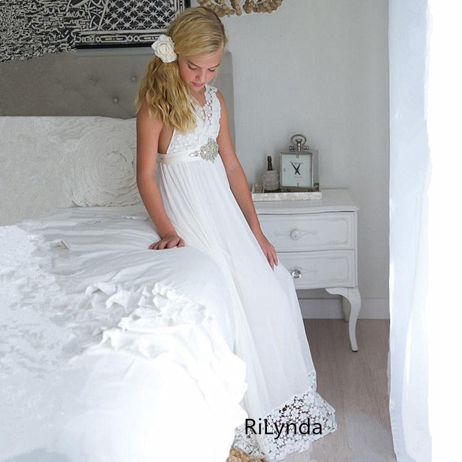 Flower     Girl     Dress   with   Flowers  /Ribbons for   Girls   Tulle   Dresses   Birthday Party Wedding Ceremonious Kid   Girl   Clothes Gown for Kid