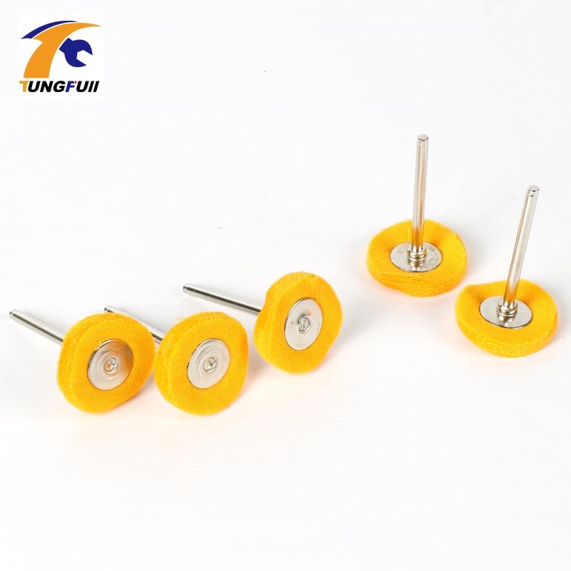 Tungfull Drill Attachment Yellow Buff Wheel Felt Wheel Polishing Disc For Dremel 4000 3000 Dremel Accessories Power Tool