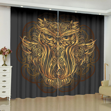 Dark gold window curtain Buddha statue blinds finished drapes window blackout cortina Room curtains parlour rideaux nightmare curtains for window dark style butterfly batman blinds finished drapes window blackout curtains parlour room blinds