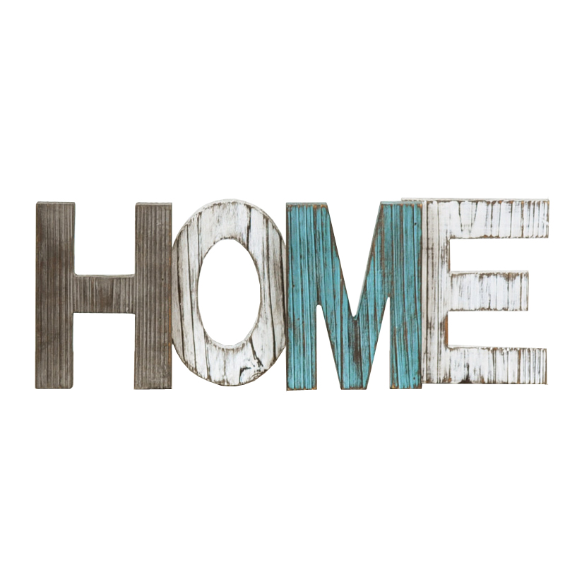 Vintage HOME Wooden Letters Home Decor Wall Furnishing