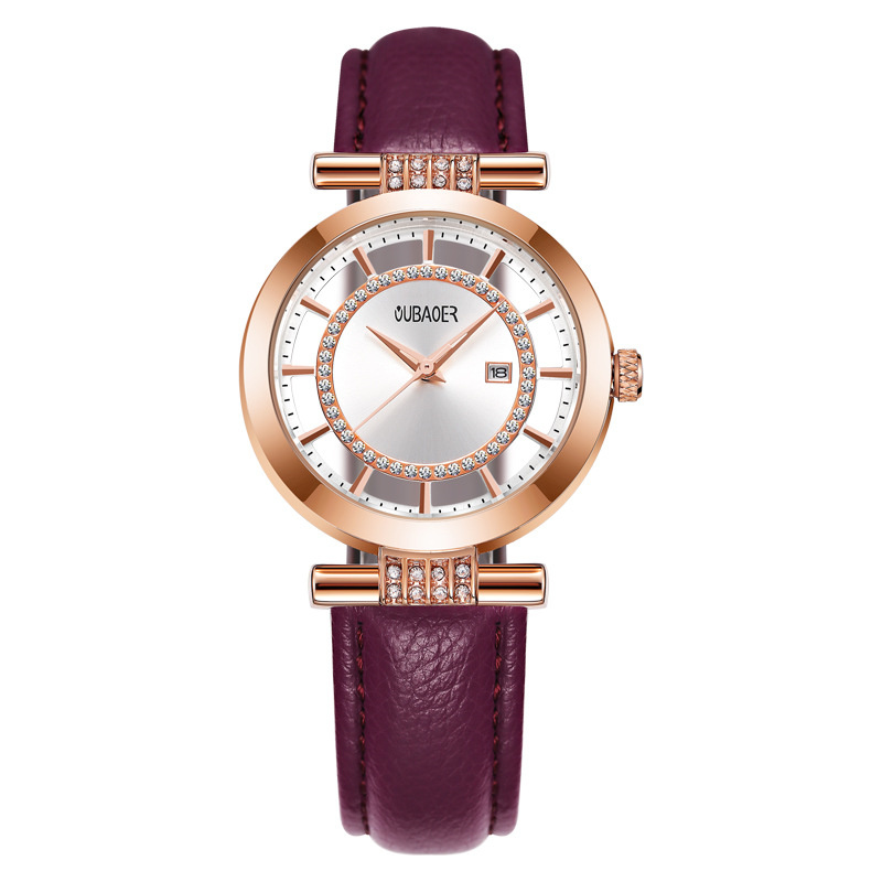 kobiet zegarka Top Luxury Brand Ladies Quartz Wristwatch Fashion Hollow Calfskin Strap Gold Watches Women Watch Relogio Feminino new top brand guou women watches luxury rhinestone ladies quartz watch casual fashion leather strap wristwatch relogio feminino