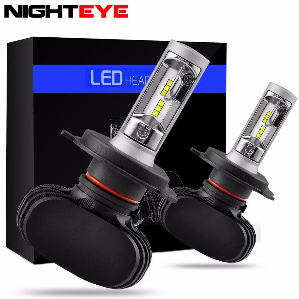 White Light S1 6500K 50W Car LED Headlight CSP Chips Conversion Kit Car LED Lights H4 H7 H11 LED Headlights LEDs 2pcs/set