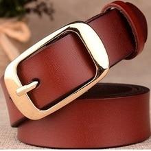 Genuine Leather Women's Belt-Vintage Pin Buckle Fashion for Women