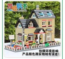 Wange 755pcs Luxury Villa Toy plastic model kits Minifigures Building Blocks Toys Compatible with Lego