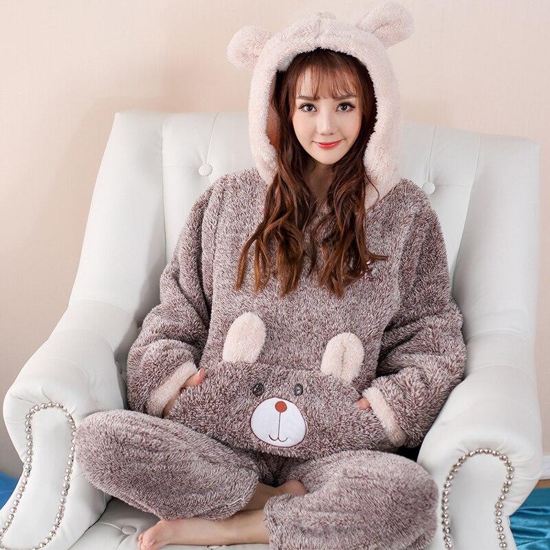 9ad507f08f Compra hooded pyjamas coral fleece y disfruta del envío gratuito en  AliExpress.com