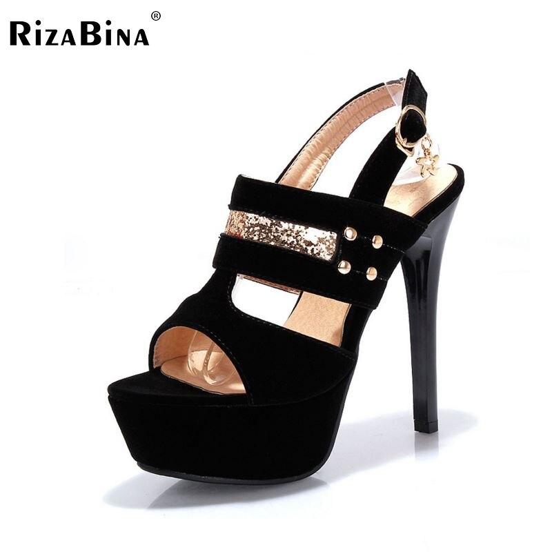 RizaBina free shipping high heel sandals women sexy platform footwear fashion shoes P14164 EUR size 34-39 free shipping candy color women garden shoes breathable women beach shoes hsa21