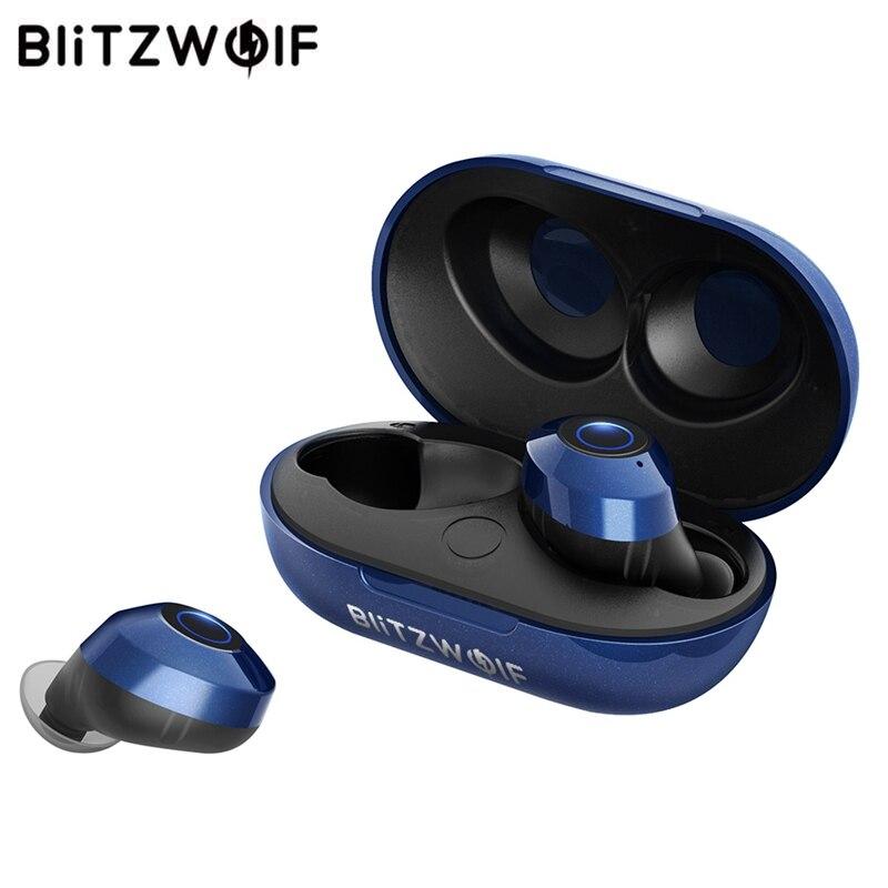 Em Estoque TWS Blitzwolf BW-FYE5 Verdadeiro Fone de Ouvido Bluetooth 5.0 Sem Fio Fones de Ouvido Do Esporte IPX6 10 M Conexão Fone de Ouvido Estéreo À Prova D' Água