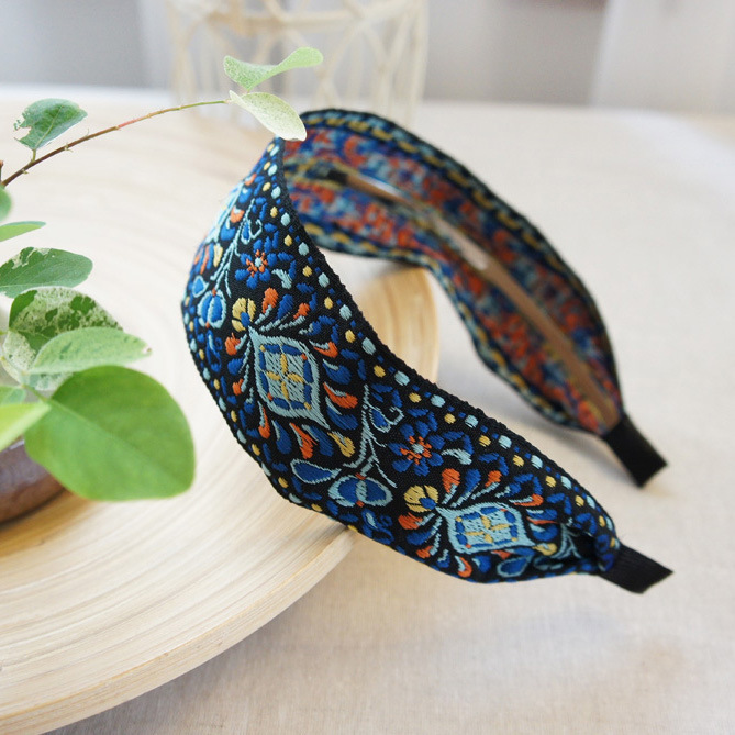 Bohemian Embroider Flowers Headband For Women Girls Hair Accessories Hairband Hair Bows Flower Crown Hair Bands For Women in Women 39 s Hair Accessories from Apparel Accessories
