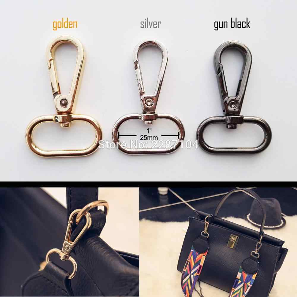 Black Leather Handbag Purse Chain Gold Metal Crafting Shoulder Bag Strap Chain Replacement Purse Chain With Lobster Buckle