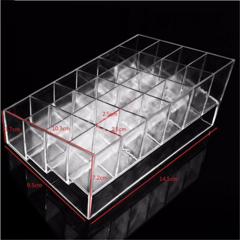 24 Transparent Lipstick Storage Box Acrylic Lipstick Holder Case Makeup  Organizer Cosmetic Display Stand New Free Shipping S439 in Storage Boxes    Bins from. 24 Transparent Lipstick Storage Box Acrylic Lipstick Holder Case