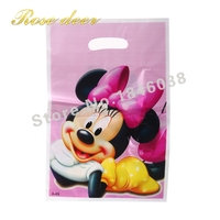 500pcs Lot Minnie Theme Party Gift Bag Party Decoration Plastic Candy Bag Loot Bag For Kids