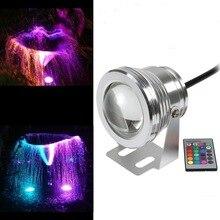 1 шт./лот RGB 10 W DC12V подводный светодиодные фонари для фонтанов Светодиодная лампа для бассейна лампы для пруда IP67 свет под водой