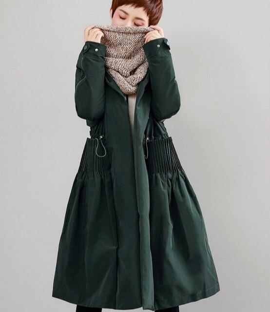 High Quality Women's Vintage Lolita Duck Down Jackets A-line 2018 Winter Female Long Hooded Parka Buttons Coats Zipper Sleeves