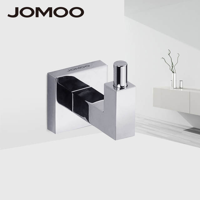 JOMOO 4-Piece Bath Hardware Towel Ring Hook Bathroom Accessory Set 3 Cloth Hook 1 Towel Ring