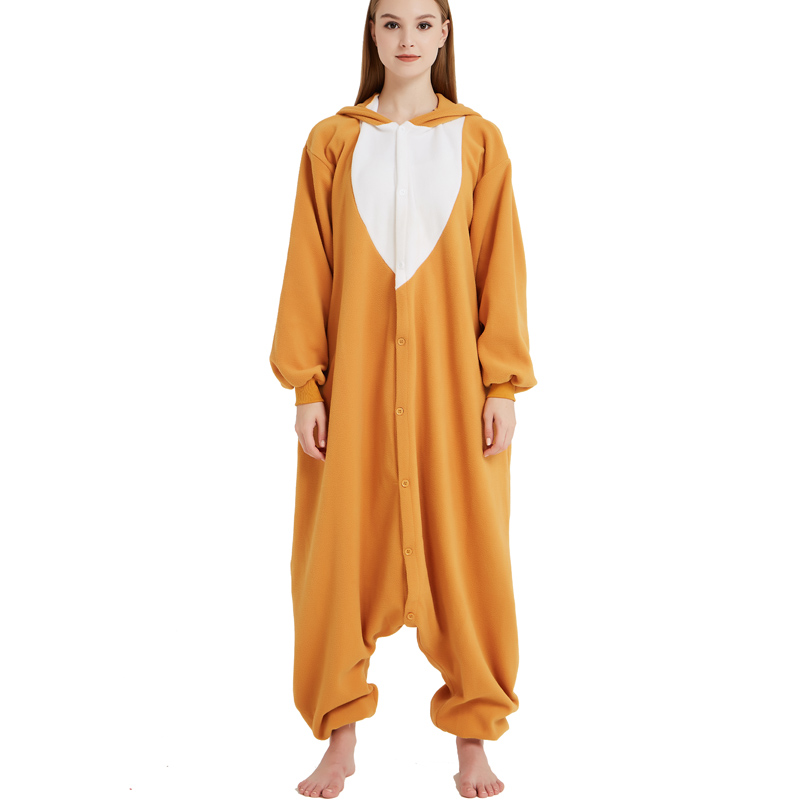 Funny Christmas Elk Kigurumi Onesie Animal Deer Jumpsuit Sleepwear Adult Pajamas Polar Fleece For Halloween Pyjamas Home Party (2)