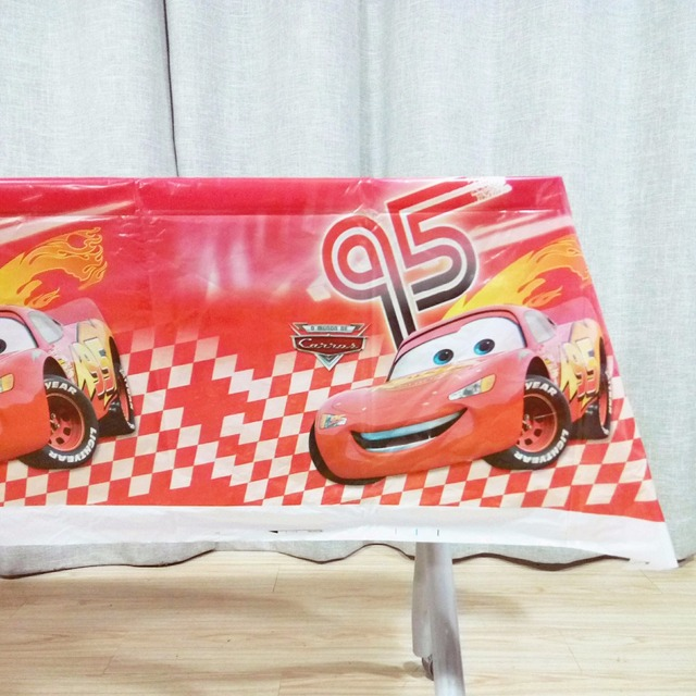 108x180cmset Lightning Mcqueen Cartoon Theme Party Table Cloth