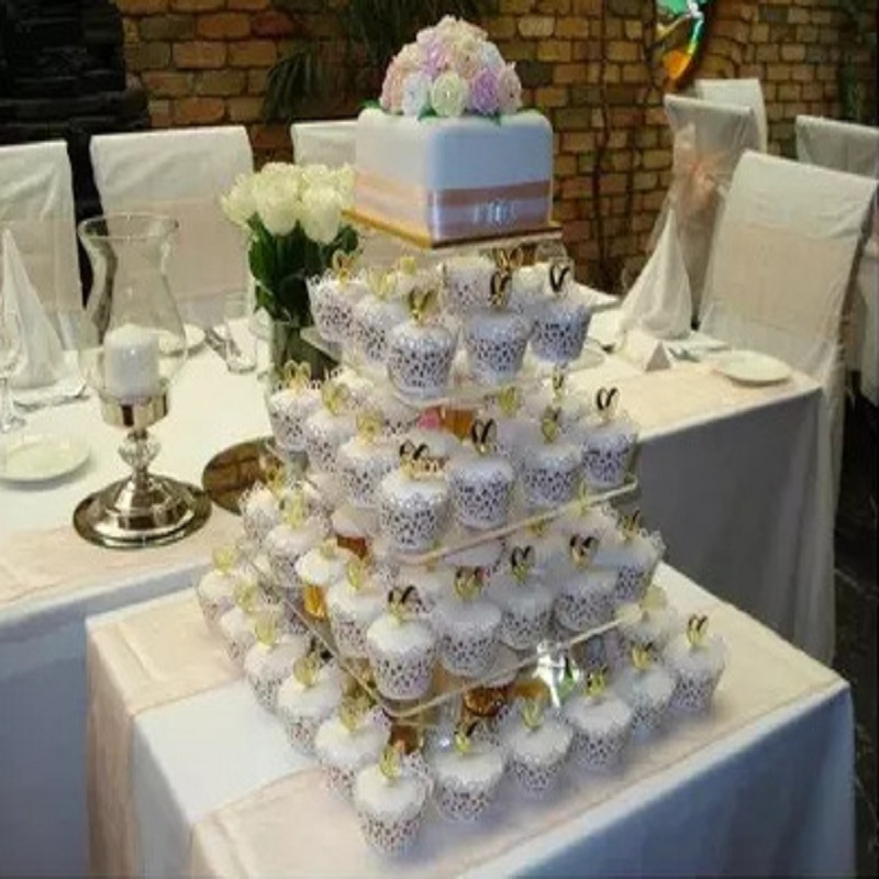 2016 Wedding Cake 5 Layer Removable Square Wedding Cake Decorating