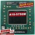 Original AMD laptop Mobile A10 5750M A10-5750m Socket FS1 CPU 4M Cache/2.5GHz/Quad-Core Laptop processor for GM45/PM45