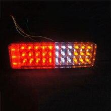 1 Pair LED Car Tail Lights Warning Lamp for 24V Truck Trailer Lorry Van Red Yellow White 1 pair cob truck tail lights indicator warning lamp for 12v 24v bus trailer lorry van