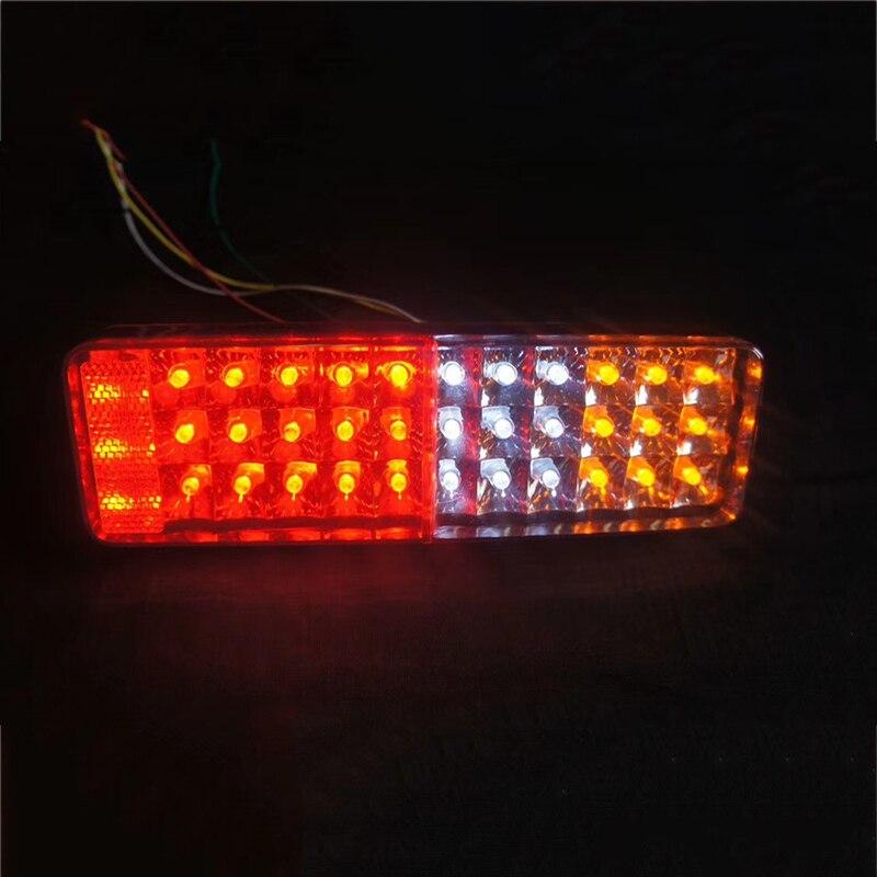 1 paire feu arrière de voiture à LED feux lampe d'avertissement pour camion remorque 24 V camion fourgon rouge jaune blanc