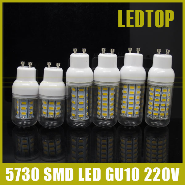 CE Rohs 5730 SMD GU10 LED Lamp 9w 10W 12w 15W 20w 25W AC 220V Ultra Bright 5730SMD LED Corn Bulb Light Chandelier