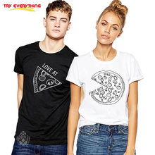 fb8b6460998 Try Everything Pizza TShirts For Couples 2019 Casual Matching Couple  Clothes Summer Men And Women Talentine T Shirts Gift. US  7.36   piece Free  Shipping