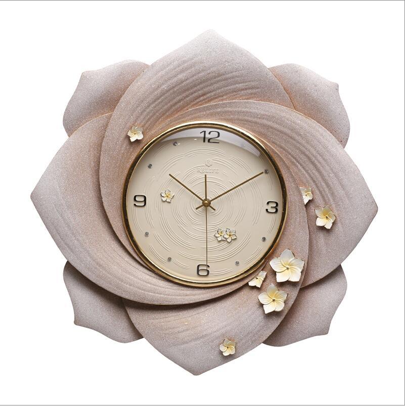 Современная роскошь тиснение полимерные настенные часы украшения ремесла креативные личные часы дома Висячие немой кварцевые часы фотообои с орнаментом - 6