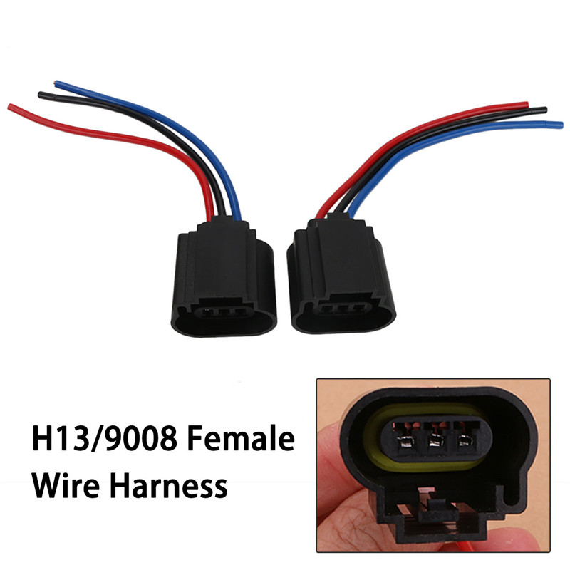 H13 9008 Adapter Headlight Wire Cable Harness Connector ... H Wiring Harness Standard on h13 plug harness, hid kit headlight harness, h13 hid wiring,