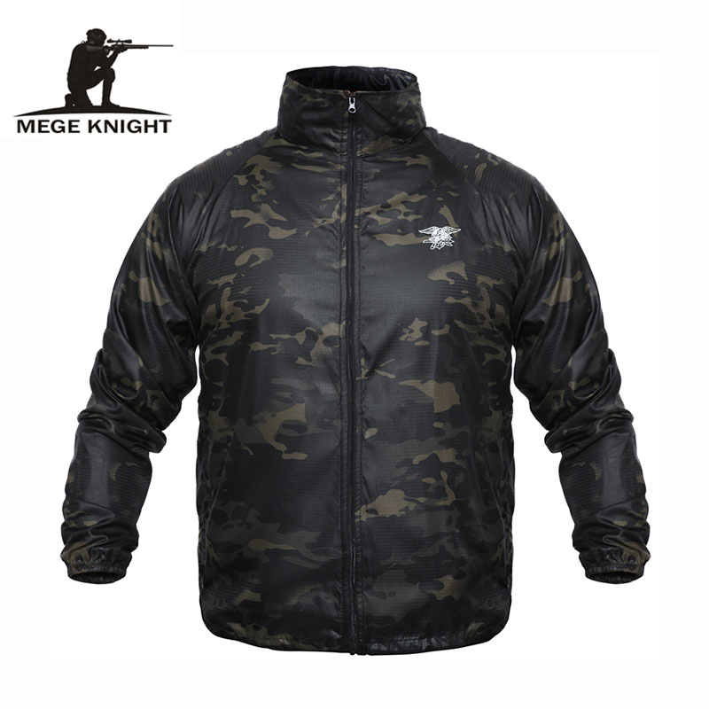 Mege Brand Clothing Summer Tactical Military Camouflage Ultra Light Weight Skin Jacket Rash Guards US Army Casual Plus Size 4XL