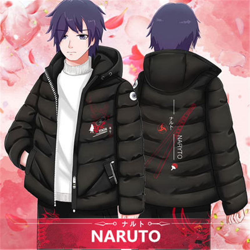 2019 Anime NARUTO Sharingan Kakashi Uchiha Itachi Cosplay Costumes Women Men Cotton Hoodies Warm Thicken Hooded Jackets Coat New