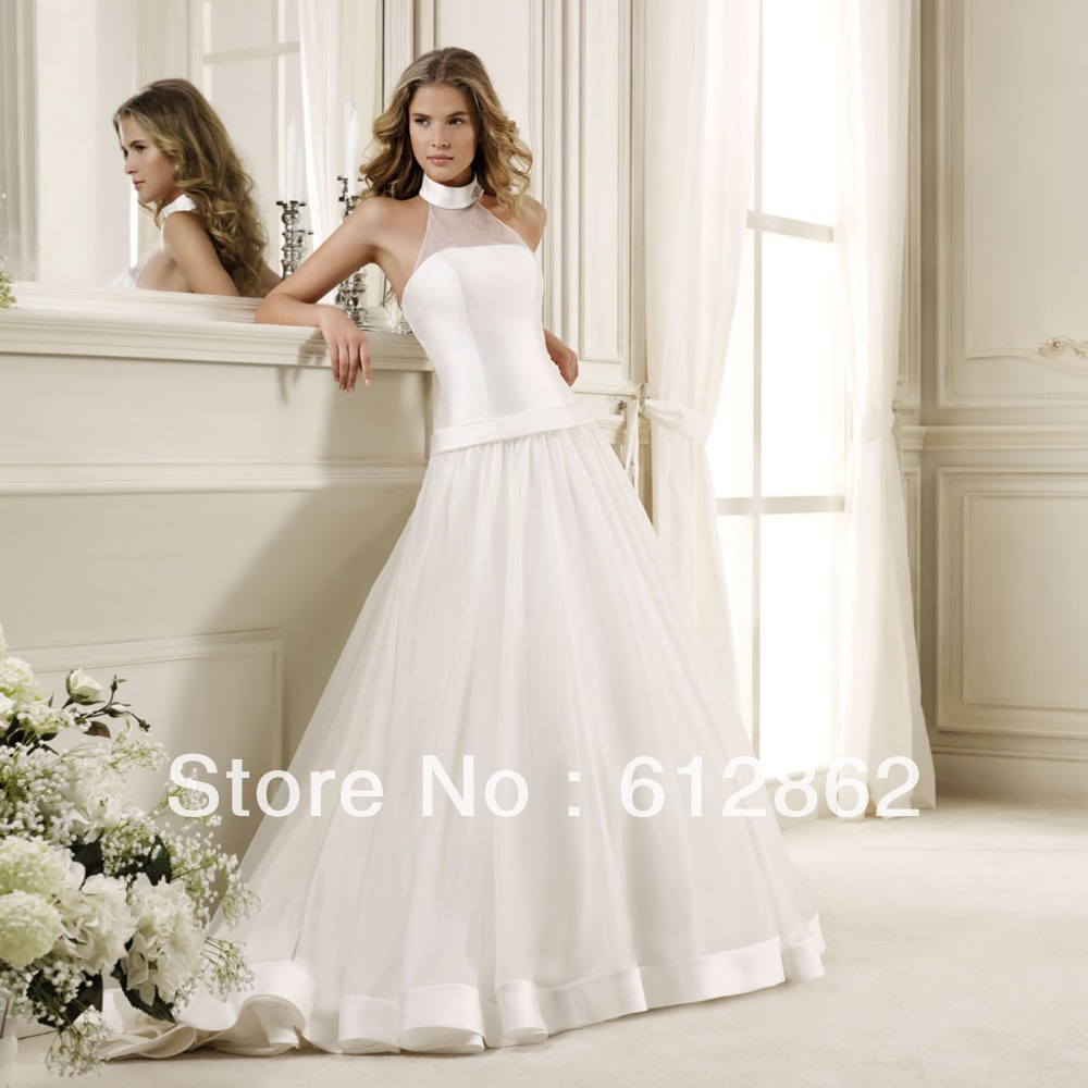 Online buy wholesale halter top beach wedding dresses from for Wedding dress halter top