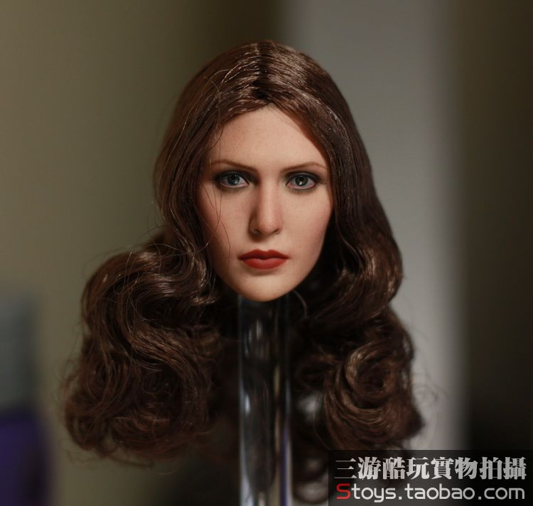 1/6 scale figure doll head for 12 action figure doll accessories.Elizabeth Olsen Scarlet Witch figure doll head sculpt erica olsen strategic planning kit for dummies
