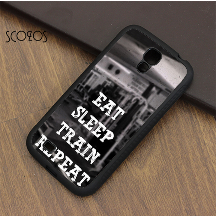 SCOZOS Gym Motivational Eat Sleep Train Repeat case cover for samsung galaxy S3 S4 S5 S6 S7 S8 S6 edge S7 edge note 3 4 5