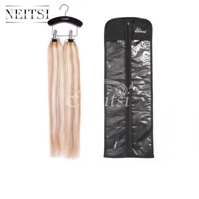 Neitsi Wooden Hair Extensions Storage Carrier Suit Case Bag Plus