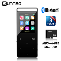 16GB Bluetooth HiFi Digital MP3 Music Player 50 Hours Audio Playback Support Up To 64GB Lossless