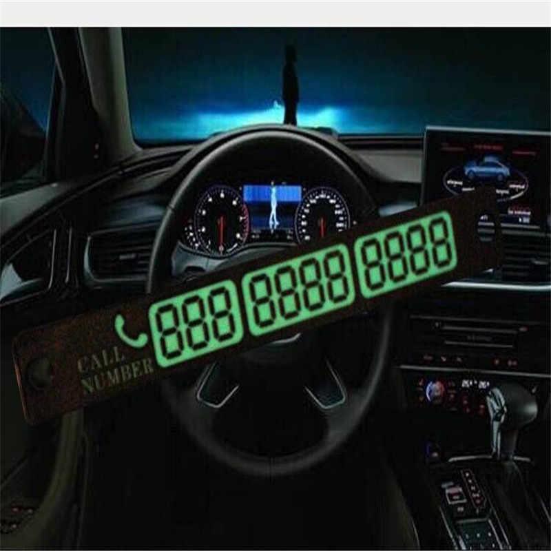 車発光一時的な駐車カード吸盤電話番号とカードフォルクスワーゲンゴルフ 4 Golf5 ゴルフ 6 ゴルフ 7 MK6 MK7