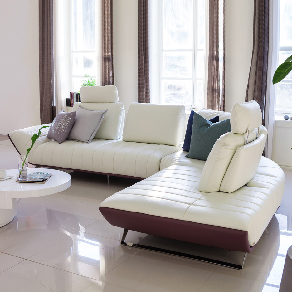 Genuine Leather Sofa Sectional Living Room Corner Home Furniture Couch L Shape Functional Backrest And Stainless Steel Legs