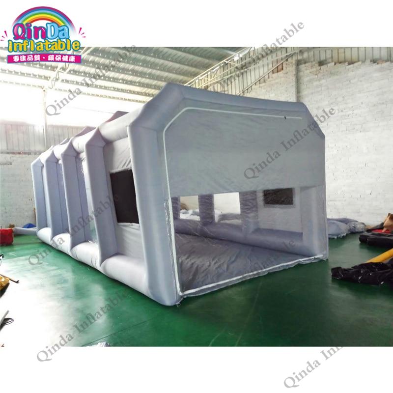 Vendita calda mobile gonfiabile spray booth tenda gonfiabile portatile vernice booth tende per auto mantenendo con filtri dell'aria in carbonio