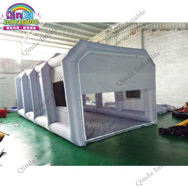 Vente chaude mobile gonflable cabine de pulvérisation tente portable gonflable cabine de peinture tentes pour maintenir avec filtres à air de carbone de voiture