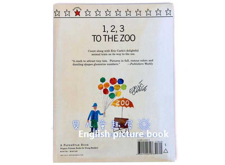 Eric carle 1,2,3 To The Zoo kids books educational carton ENGLISH ...