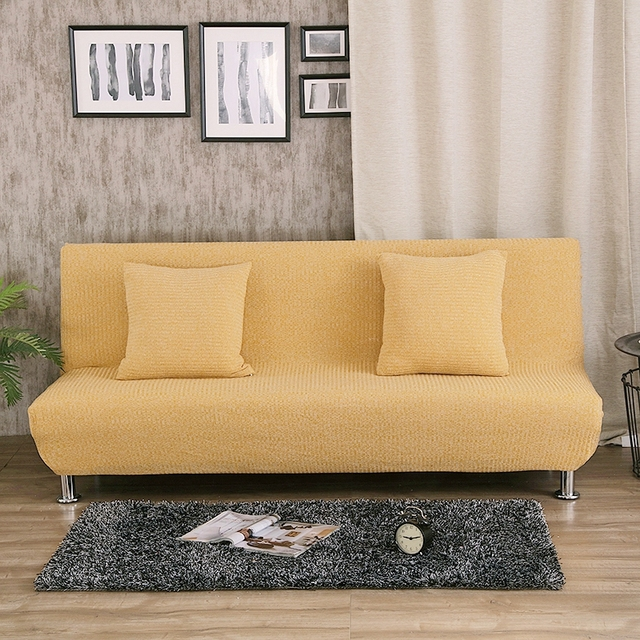 Uuiversal Stretch Sofa Bed Covers For Living Room Armless Couch Sofa  Slipcovers Removable Covers For Sofa