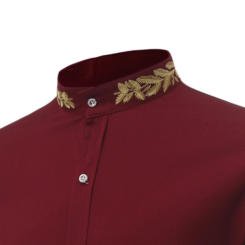 07d44cf504397ee Печатных плед в горошек Для мужчин рубашка с длинными рукавами Повседневное  рубашки для Для мужчин Slim